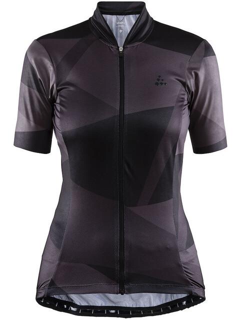 Craft Hale Graphic Fietsshirt korte mouwen Dames violet/zwart